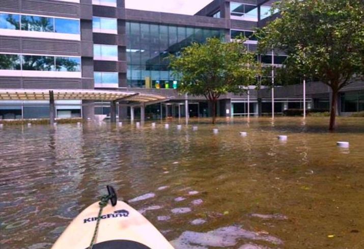 BP's flooded Westlake Campus