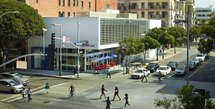 Capital One Bank & Café in downtown Santa Monica
