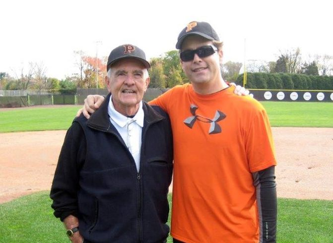 Princeton University baseball coach Tom O'Connell and CBRE Executive Vice President Craig Peters