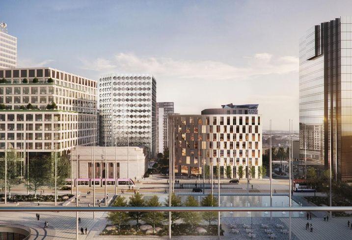 Arena Central Masterplan View, Birmingham UK