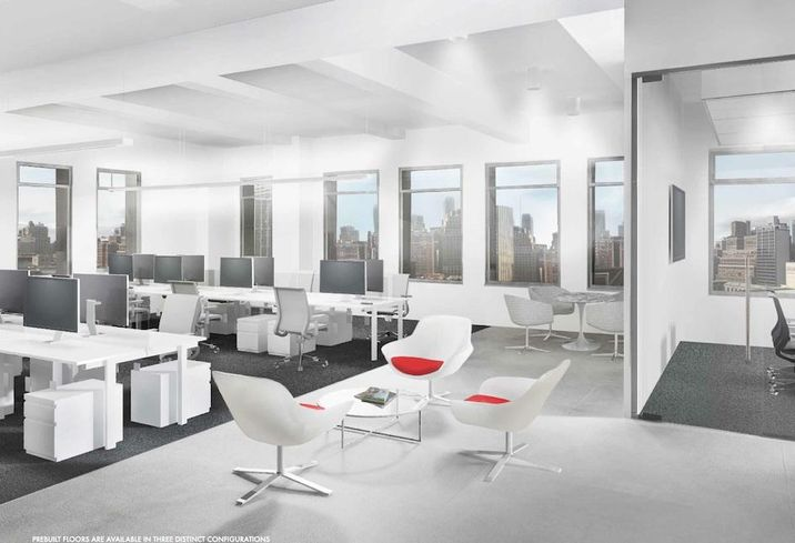 A pre-built suite at 145 East 57th St., where ABS Real Estate Partner is holding a