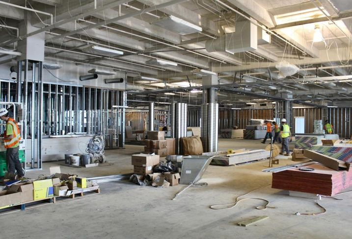Life Time Athletic Charlotte Interior Construction