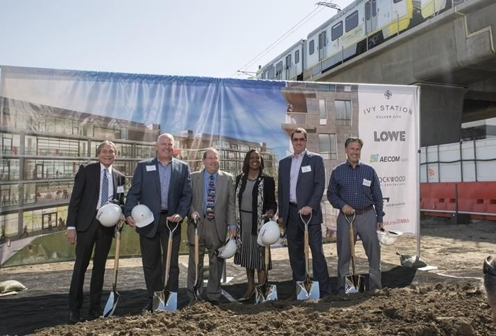 Culver City Community Development Director Sol Blumenfeld, Lowe Executive Vice President Tom Wulf, Los Angeles City Councilmember Paul Koretz, Metro board member Jacquelyn DuPont Walker, AECOM's Ted Fentin and Culver City Mayor Jeffrey Cooper