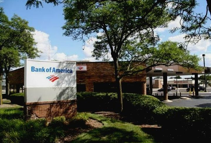 A Bank of America in Buffalo Grove, Illinois.