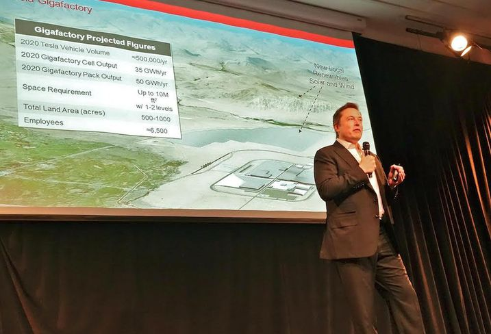 Elon Musk speaking about Gigafactory, which Nevada won with a $1.3B financial incentive package