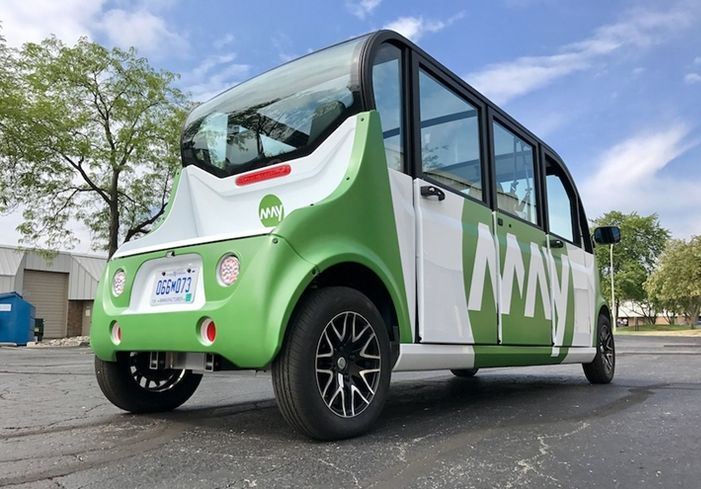 Self-Driving Shuttles Begin Testing On Downtown Detroit Streets