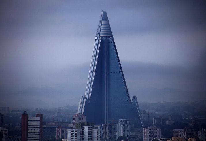 North Korea's Ryugyong Hotel, aka the