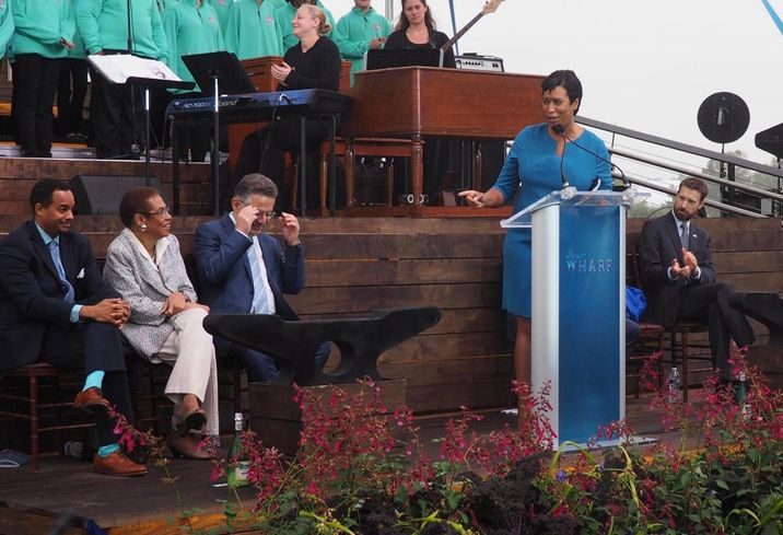 Mayor Bowser Wharf Grand opening ceremony