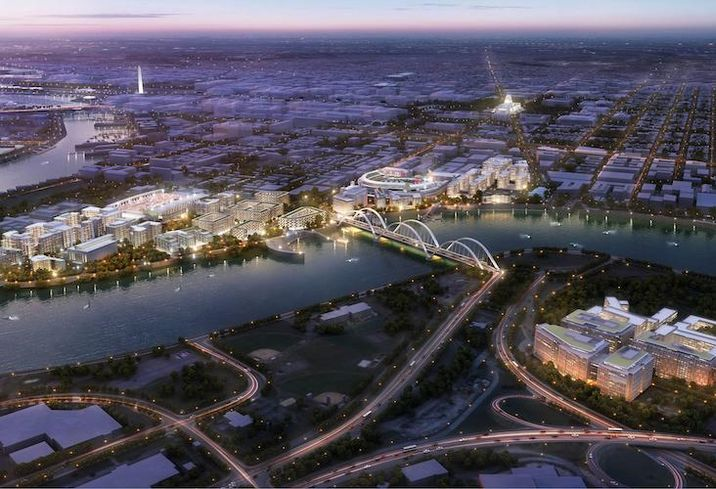 Amazon HQ2 Anacostia Riverfront rendering