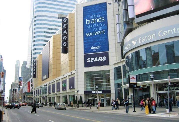 Sears Canada bankruptcy Eaton Centre Toronto