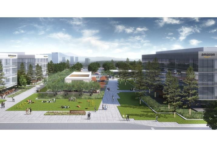 Amazon Irvine Rendering of how Amazon HQ2 might look at Irvine Spectrum