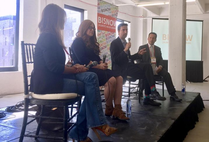 Industry City Director of Leasing Kathe Chase, Heritage Equity Partners CEO Toby Moskovits, Brooklyn Navy Yard Development Corp. CEO David Ehrenberg and Anchin Block & Anchin Partner Robert Gilman