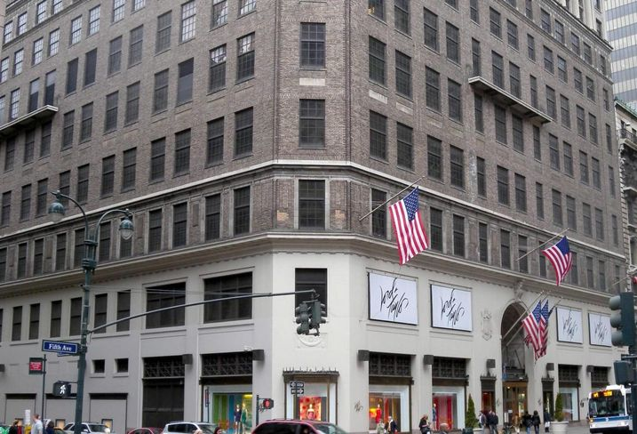 Lord & Taylor's flagship store at 424 Fifth Ave., sold to a WeWork partnership for $850M