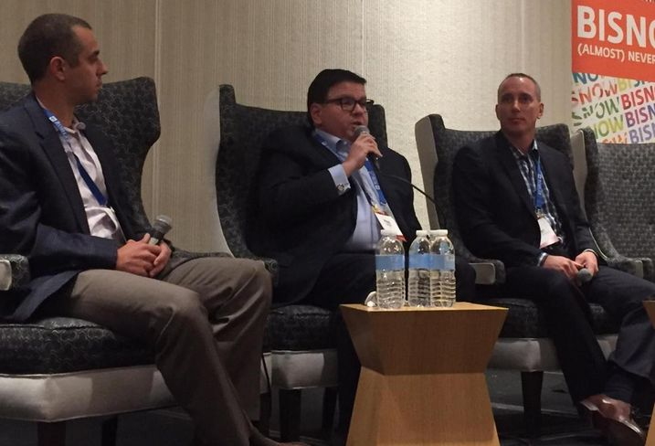 Tradepoint Atlantic Executive Vice President of Development Eric Gilbert, JLL Mid-Atlantic Industrial Practice Group Leader Mark Levy and ARCO Principal Lee Stellakis