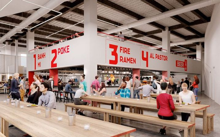 Zeppelin Station will have eight food vendors.