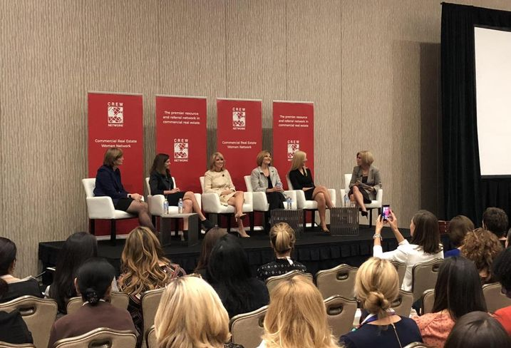 Deloitte Partner & Canadian Real Estate And Construction Leader Sheila Botting, FJ Management CEO Crystal Maggelet, Hines Investment Fund CEO Sherri Schugart,  KeyBank Real Estate Capital Co-Head Angela Malo, Colliers International President Of US Investor Services & Project Management Karen Whitt, Hartman Simons & Wood Partners Lori Kilberg