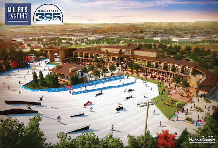 The centerpiece of Miller's Landing is Snowsports 365, a year-round sports complex.
