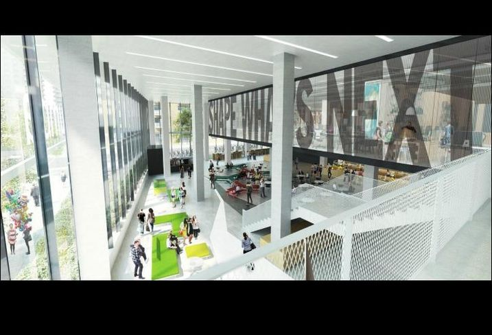 A rendering of Columbia College Chicago's upcoming student center.
