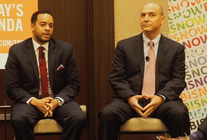 D.C. Deputy Mayor Brian Kenner and Arlington Economic Development Director Victor Hoskins