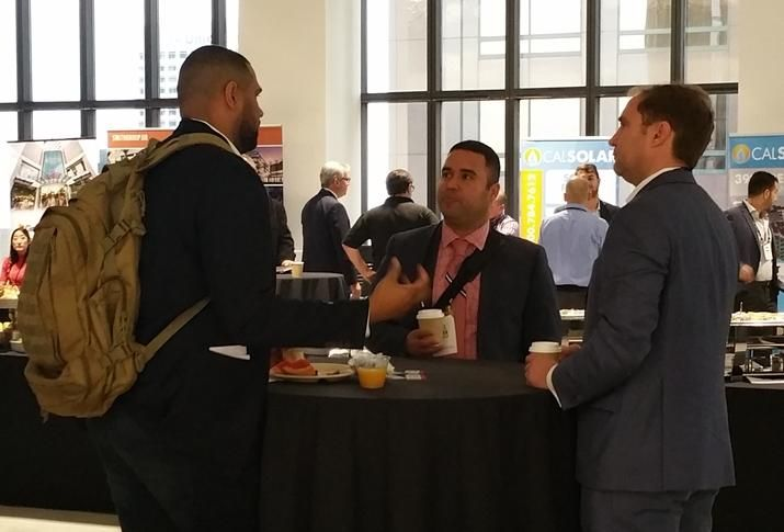 Networking during the SoCal CRE Leadership Conference