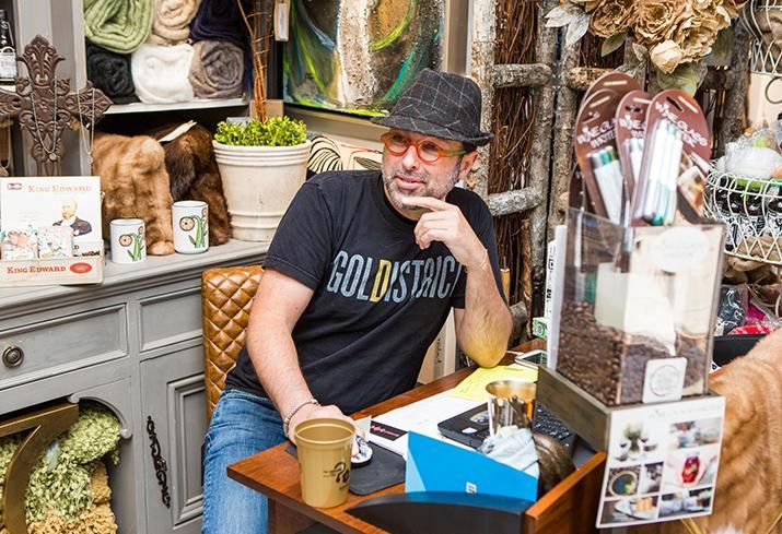 Magnolia Emporium owner Randolph James has an interior design store on Lincoln Street in The Gold District.
