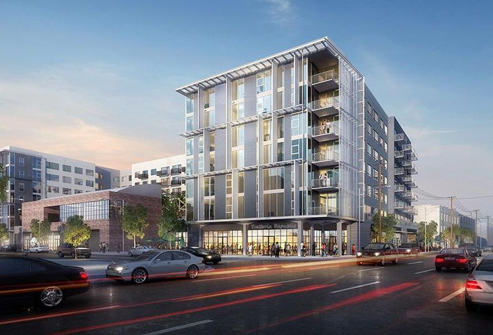 Rendering of Amp Lofts in the Arts District