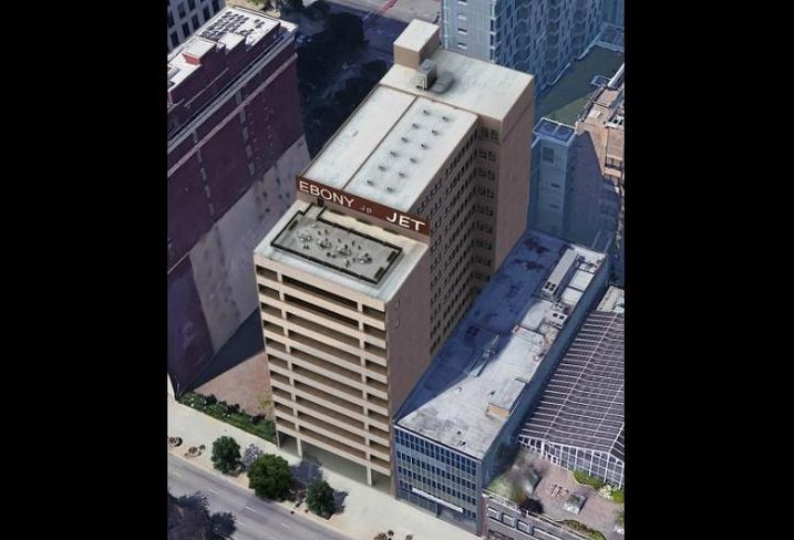 A rendering of 3L Real Estate's plans for the Johnson Publishing Building in the South Loop.