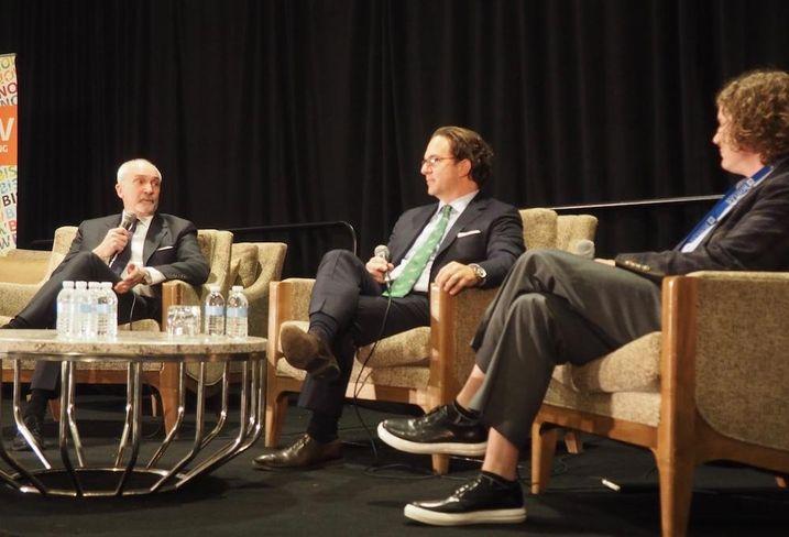 Kettler CEO Bob Kettler, Bozzuto CEO Toby Bozzuto and WDG Architecture Managing Principal Sean Stadler