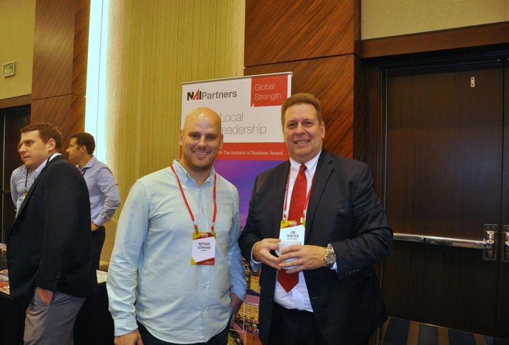WeWork South Head of Operations Nathan Lenahan, NAI Partners Managing Director Jim Tainter