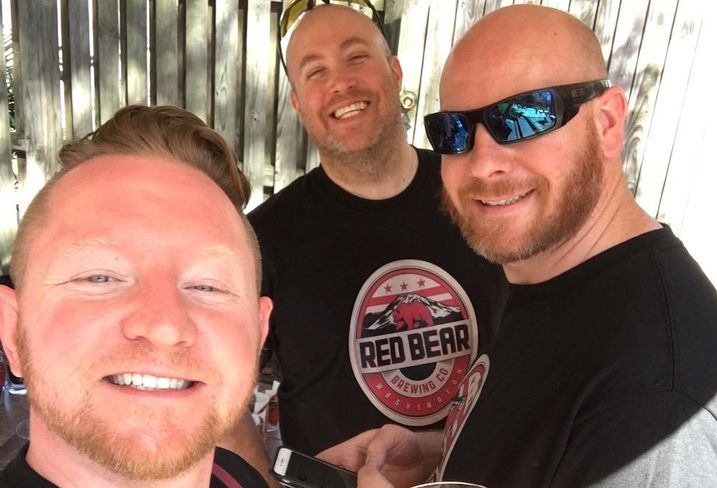 Red Bear Brewing co-founders Bryan Van Den Over, Cameron Raspet and Simon Bee