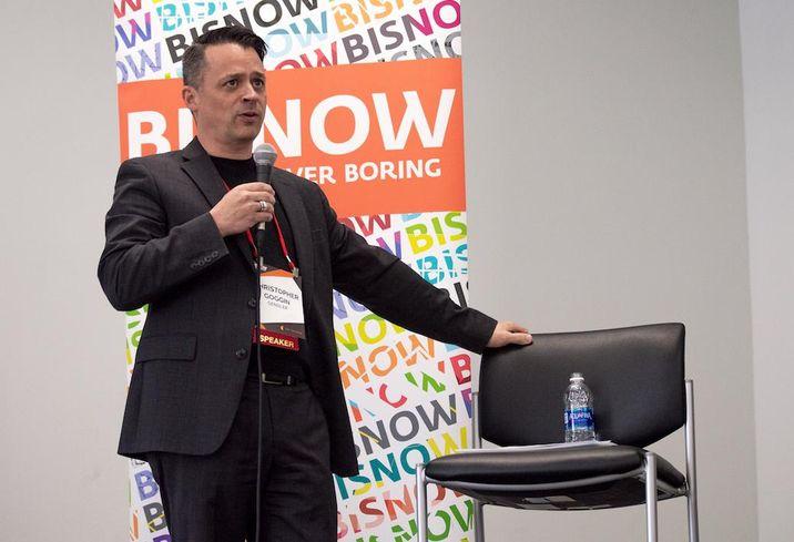 Gensler Principal Christopher Goggin at Bisnow's Big South Office Event