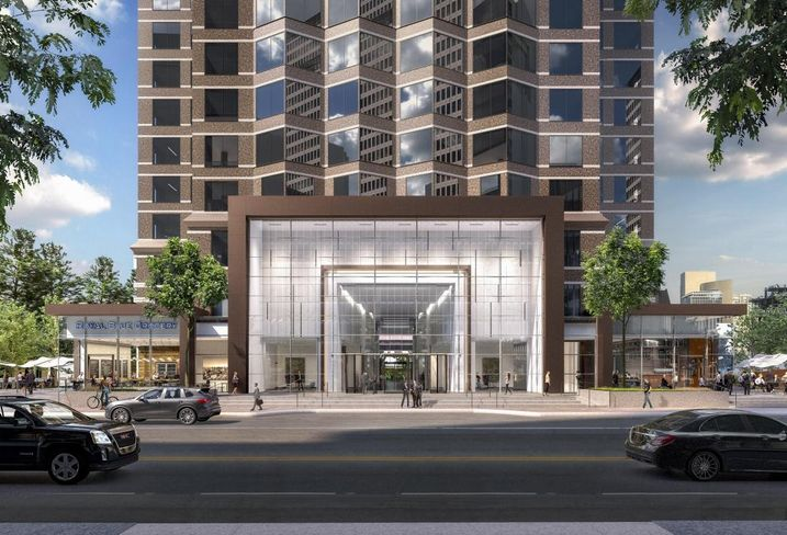 Rendering of Trammell Crow Center