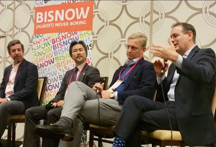 Blatteis & Schnur Partner Sam Brownell, President Arts District Development Kevin Chen, Lion Real Estate Group Co-Founder Jeff Weller and DLA Piper Partner Jerry Neuman at Bisnow's the Evolution of the Arts District event held Dec. 5 at the JW Marriott LA Live.