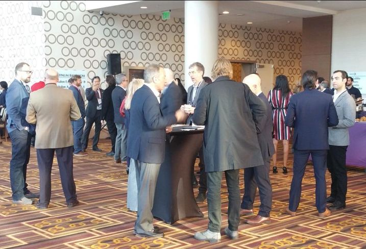 Guests network at Bisnow's the Evolution of the Arts District event held Dec. 5 at the JW Marriott LA Live.