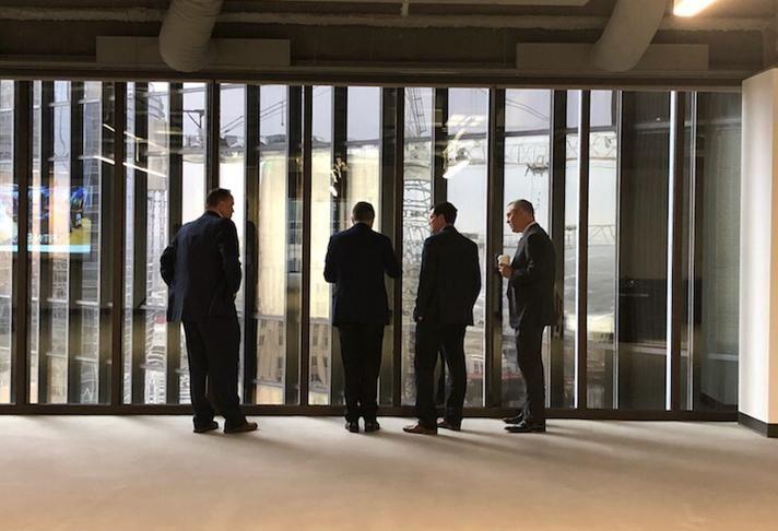 Rockets CEO Tad Brown, Camden Property Trust CEO Ric Campo, Houston Dynamo President Chris Canetti, Houston Astros President Reid Ryan