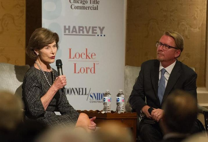 Transwestern's Chip Clarke and former First Lady Laura Bush