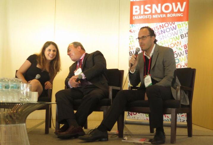 Wynwood Yard Founder and CEO Della Heiman, Ackerman Managing Partner Neisen Kasdin, and Ocean Terrace Holdings Owner Sandor Scher at a Bisnow panel in Miami December 12, 2017.
