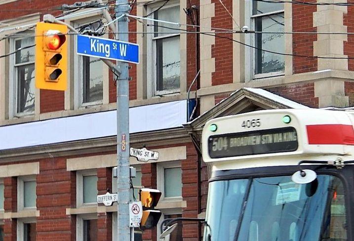King street Toronto street car City of Toronto Pilot Project