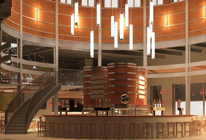 Rendering of Legion Brewing Company's Tap Room Bar in Charlotte, North Carolina