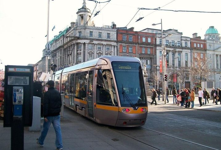 Luas Abbey Street and O'Connell junction