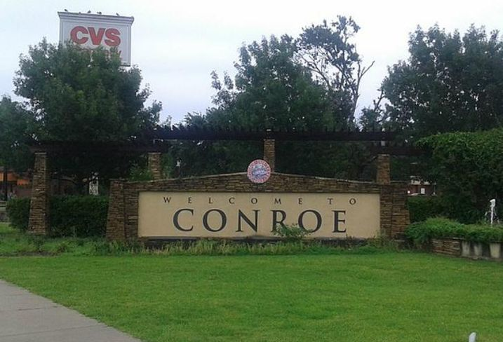 Conroe, Texas Welcome Sign