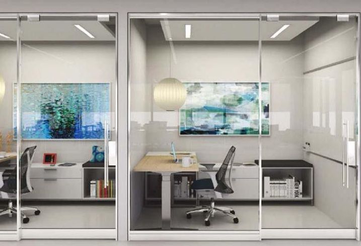 Law Firms Ax Wood Paneled Offices For Small Glass Lined Offices
