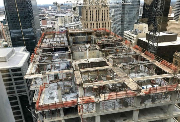 Capitol Tower construction