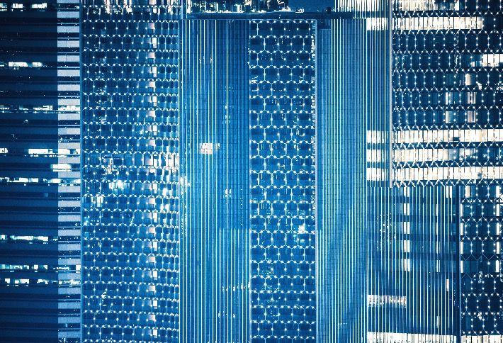 Photo inside a data center