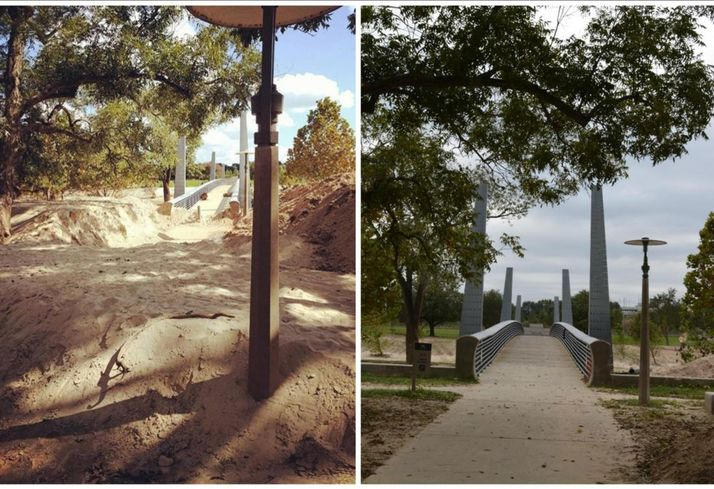 Buffalo Bayou Before And After