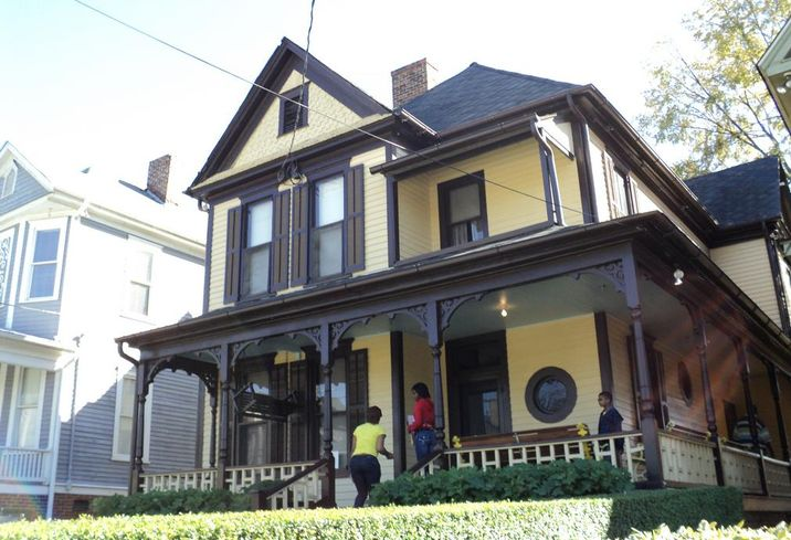 Martin Luther King Jr.'s birth home on Auburn Avenue in Atlanta, Georgia