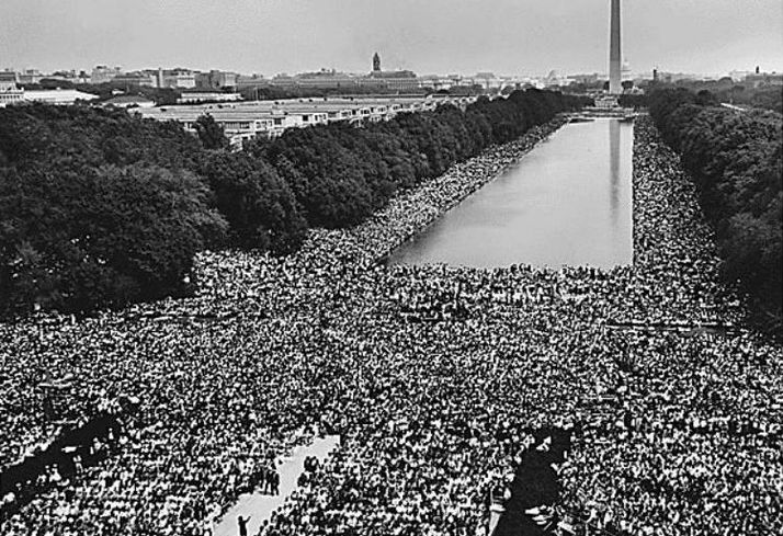 Lincoln Memorial during March On Washington