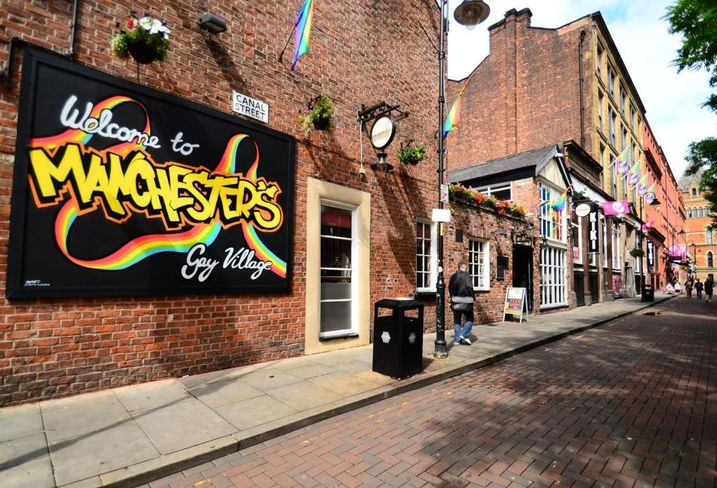 Manchester's gay village at Canal Street
