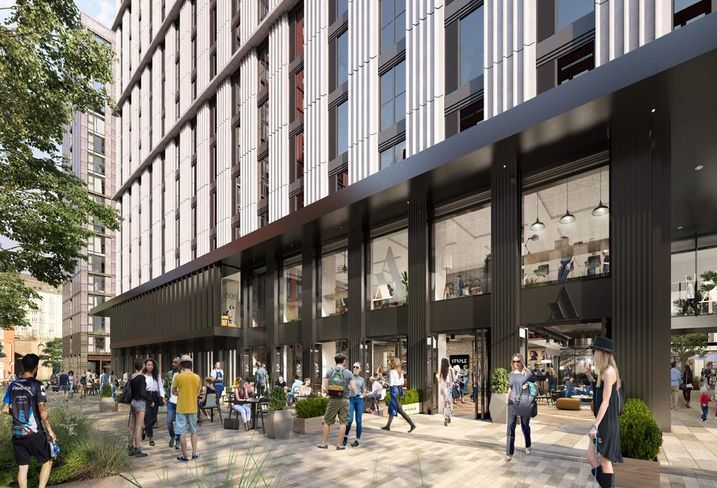 The 600 plus unit Affinity Living BTR scheme at Circle Square Manchester developed by Select Property Group 2018