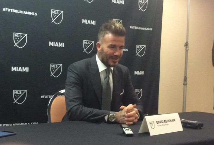 David Beckham fielded questions from reporters after announcing his MLS expansion team in Miami.